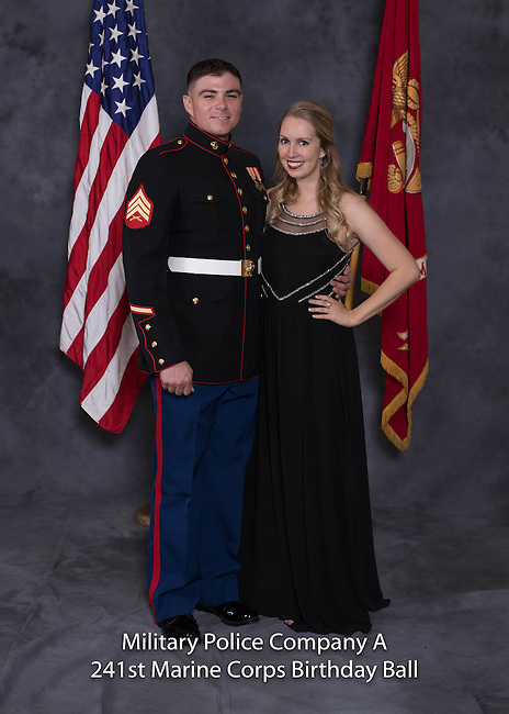 Joseph Korby at the Military Police Company A 241 Marine Corps Birthday Ball, Saturday Nov. 19, 2016  in Lexington, Ky. Photo by Mark Mahan