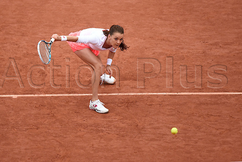 31.05.2016. Roalnd Garros, Paris, France. French Open tennis tournament. Agnieszka Radwanska (POL) during her loss to Pironkova  in 3 sets