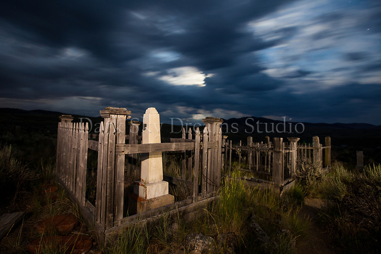 Moonrise in Bannack Cemetery #3