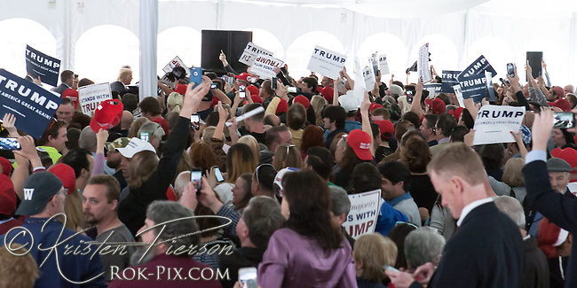 Donald Trump campaign rally in Rhode Island.<br />