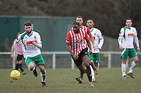 Kieran Bishop of Hornchurch runs with the ball  - AFC Hornchurch vs Bognor Regis Town - Ryman League Premier Division Football at The Stadium, Bridge Avenue, Upminster - 07/02/15 - MANDATORY CREDIT: Mark Hodsman/TGSPHOTO - Self billing applies where appropriate - contact@tgsphoto.co.uk - NO UNPAID USE