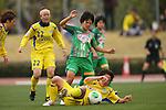 (L to R) .Azusa Imanishi (Charme), .Yu Nakasato (Beleza), .Asuka Nishikawa (Charme), .MARCH 23, 2013 - Football /Soccer : .Plenus Nadeshiko League 2013 .between NTV Beleza 2-0 FC Kibikokusaidaigaku Charme .at Ajinomoto Stadium West Field, Tokyo, Japan. .(Photo by YUTAKA/AFLO SPORT) [1040]