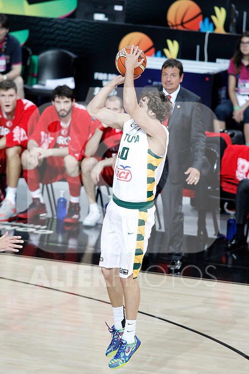 Lithuania's Simas Jasaitis during 2014 FIBA Basketball World Cup Quarter-Finals match.September 9,2014.(ALTERPHOTOS/Acero)