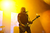 DERBYSHIRE, ENGLAND - AUGUST 13: Troy Sanders of 'Mastodon' performing at Bloodstock Open Air Festival, Catton Park on August 13, 2016 in Derbyshire, England.<br /> CAP/MAR<br /> &copy;MAR/Capital Pictures /MediaPunch ***NORTH AND SOUTH AMERICAS ONLY***
