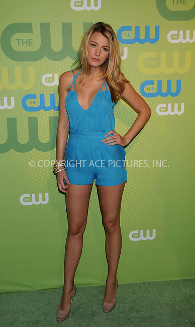 WWW.ACEPIXS.COM . . . . .  ....May 21 2009, New York City....Blake Lively at the CW Network Upfront in Manhattan on May 21 2009 in New York City....Please byline: AJ Sokalner - ACEPIXS.COM..... *** ***..Ace Pictures, Inc:  ..tel: (212) 243 8787..e-mail: info@acepixs.com..web: http://www.acepixs.com