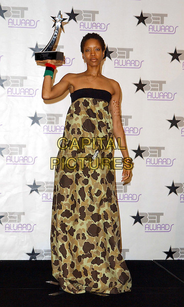 ERYKAH BADU.3rd Annual BET Awards (Black Entertainment Television) held at the Kodak Theatre, Hollywood.www.capitalpictures.com.sales@capitalpictures.com.©Capital Pictures..full length, full-length