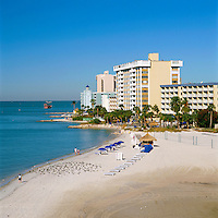 USA, Florida, Clearwater Beach: view over Beach & Hotels | USA, Florida, Clearwater Beach: Beach und Hotels