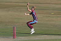 Thomas Oxley in bowling action for the Premier Leagues XI during Essex Eagles vs Premier Leagues XI, Friendly Match Cricket at The Cloudfm County Ground on 2nd July 2018