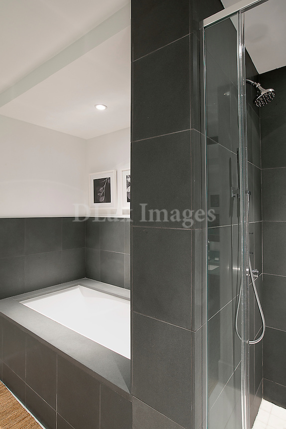Modern gray bathroom