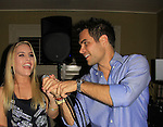 General Hospital Kristen Alderson and Erik Valdez sing at SoapFest's Celebrity Weekend - Celebrity Karaoke Bar Bash - autographs, photos, live auction raising money for kids on November 10, 2012 at Bistro Soleil at Old Historic Marco  Island, Florida. (Photo by Sue Coflin/Max Photos)