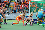 The Hague, Netherlands, June 14: Kim Lammers #23 of The Netherlands tries to score during the field hockey gold medal match (Women) between Australia and The Netherlands on June 14, 2014 during the World Cup 2014 at Kyocera Stadium in The Hague, Netherlands. Final score 2-0 (2-0)  (Photo by Dirk Markgraf / www.265-images.com) *** Local caption *** (L-R) Karri McMahon #11 of Australia, Jayde Taylor #21 of Australia, Kim Lammers #23 of The Netherlands, Kirstin Dwyer #6 of Australia, Jodie Kenny #7 of Australia