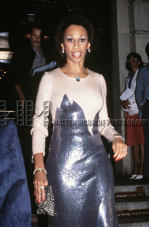 Altovise Davis at the Plaza Hotel in New York City on  June 20, 1980