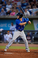 Biloxi Shuckers Bruce Caldwell (1) at bat during a Southern League game against the Pensacola Blue Wahoos on May 3, 2019 at Admiral Fetterman Field in Pensacola, Florida.  Pensacola defeated Biloxi 10-8.  (Mike Janes/Four Seam Images)