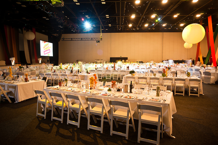 2010 Premiers Food Awards Dinner.Room Interiors and Table Details.