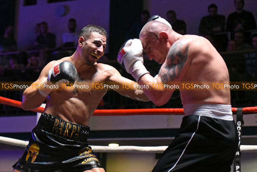 Nick Parpa defeats Jan Hrazdira during a Boxing Show at York Hall on 11th March 2017