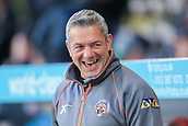 8th September 2017, The Mend-A-Hose Jungle, Castleford, England; Betfred Super League, Super 8s; Castleford Tigers versus Leeds Rhinos; Daryl Powell head coach of Castleford Tigers with a great smile on his face