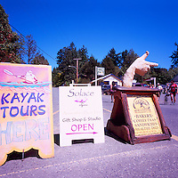 Fulford Harbour, Saltspring (Salt Spring) Island, Southern Gulf Islands, BC, British Columbia, Canada - Signboards advertising Local Businesses