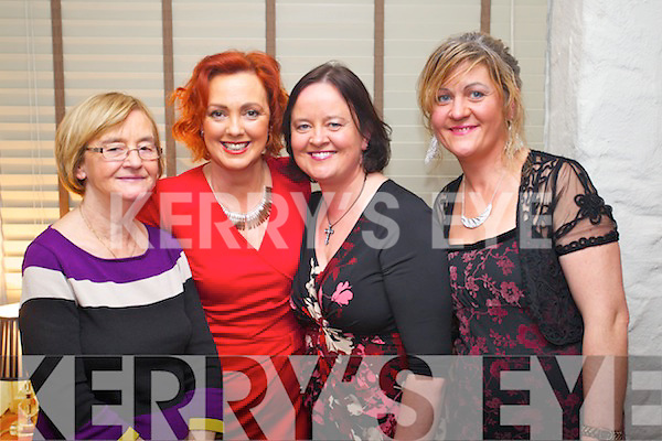 Celebrating Women's Christmas in Cassidys restaurant, Tralee on Sunday night were, from left: Frances Moriarty, Geraldine Flynn, Pamela Teehan and Noreen Teehan.