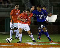 The number 24 ranked Furman Paladins took on the number 20 ranked Clemson Tigers in an inter-conference game at Clemson's Riggs Field.  Furman defeated Clemson 2-1.  Paul Clowes (6), Martin Ontiveros (10)