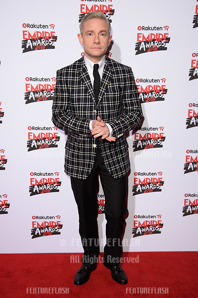 Martin Freeman arriving for the Empire Awards 2018 at the Roundhouse, Camden, London, UK. <br /> 18 March  2018<br /> Picture: Steve Vas/Featureflash/SilverHub 0208 004 5359 sales@silverhubmedia.com