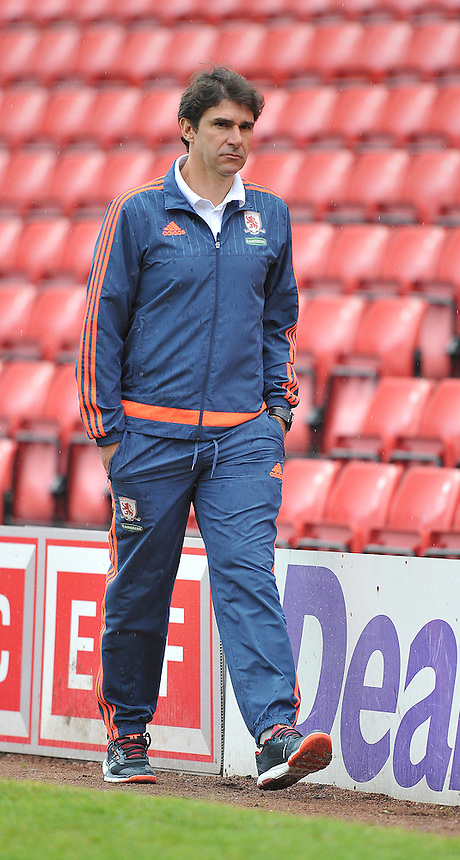 Middlesbrough's Manager Aitor Karanka<br /> <br /> Photographer Dave Howarth/CameraSport<br /> <br /> Football - Football Friendly - Barnsley v Middlesbrough - Wednesday 29th July 2015 - Oakwell - Barnsley<br /> <br /> &copy; CameraSport - 43 Linden Ave. Countesthorpe. Leicester. England. LE8 5PG - Tel: +44 (0) 116 277 4147 - admin@camerasport.com - www.camerasport.com