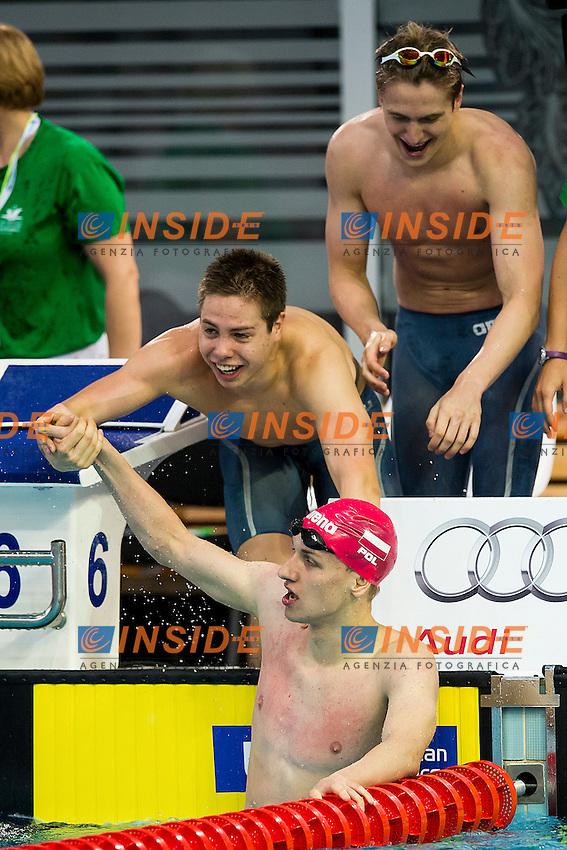 Team Poland POL<br /> 4X200 Freestyle Relay Men Final Gold Medal<br /> LEN 43rd Arena European Junior Swimming Championships<br /> Hodmezovasarhely, Hungary <br /> Day03 08-07-2016<br /> Photo Andrea Masini/Deepbluemedia/Insidefoto