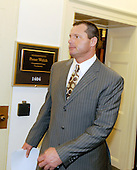 Washington, DC - February 12, 2008 -- Former New York Yankee pitcher Roger Clemens departs the office of United States Representative Peter Welsh (Democrat of Vermont) as he  makes the rounds of the United States House of Representatives as he meets members of the Government Operations and Reform Committee concerning his alleged use of human growth hormone (HGH) in Washington, D.C. on Tuesday, February 12, 2008.  He is scheduled to testify before the committee on Wednesday, February 13, 2008..Credit: Ron Sachs / CNP.(RESTRICTION: NO New York or New Jersey Newspapers or newspapers within a 75 mile radius of New York City)