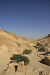 Israel, the Judean Desert, a view from Zohar Fortress in Wadi Zohar