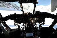 Chinook cockpit at Denali base camp