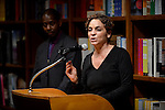 CORAL GABLES, FL - FEBRUARY 06: Actress Jasmine Guy (R) and Avery Sharpe discuss and sign copies of her book 'Afeni Shakur: Evolution of a revolutionary' with an Evening performance by The Avery Sharpe Trio band at Books and Books on Friday February 6, 2015 in Coral Gables, Florida. (Photo by Johnny Louis/jlnphotography.com)