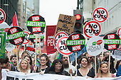 Diane Abbott MP and Charlotte Church.  End Austerity Now, national demonstration organised by the People's Assembly, London.