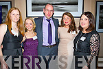 BUSINESS: attending the businness section reunion of IT Tralee on Saturday evening at Ballygarry House Hotel & Spa, Tralee. L-r: Michelle Farrell (Camp), Sinead Boyle (Cork), Jeremiah O'Mahony (Castyleisland), Marie Fitzgibbon (Derrymore) and Margaret Healy (Millstreet).
