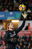 Goalkeeper Loris Karius of Liverpool during the Premier League match between Swansea City and Liverpool at the Liberty Stadium, Swansea, Wales on 22 January 2018. Photo by Mark Hawkins / PRiME Media Images.