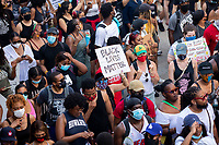 Protesters hold up signs during a march against police brutality and racism in Washington, D.C. on Saturday, June 6, 2020.<br /> Credit: Amanda Andrade-Rhoades / CNP/AdMedia