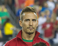 Portugal defender Joao Pereira (21).  In an International friendly match Brazil defeated Portugal, 3-1, at Gillette Stadium on Sep 10, 2013.