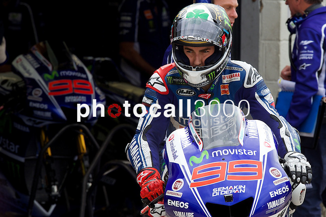 hertz british grand prix during the world championship 2014.<br /> Silverstone, england<br /> August 28, 2014. <br /> FP MotoGP<br /> Box<br /> jorge lorenzo<br /> PHOTOCALL3000/ RME
