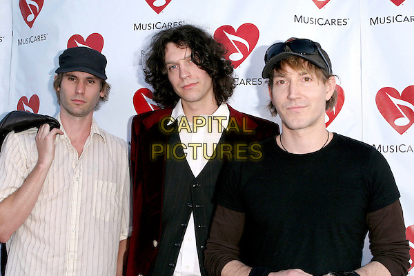 BRAD HARGRAVES, DANIEL DAVIES & RICHARD MULLEN OF YEAR LONG DISASTER.Attend The Musicares Map Fund Concert to Honor Goldenvoice held at The Henry Fonda Music Box Theatre in Hollywood, California, USA, May 20th 2005..half length.Ref: ADM.www.capitalpictures.com.sales@capitalpictures.com.©JWong/AdMedia/Capital Pictures.