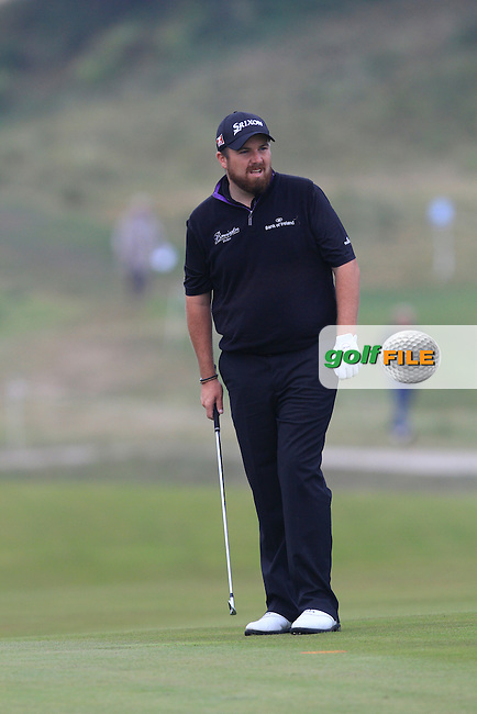 Shane Lowry (IRL) on the 1st during Round 4 of the KLM Open at Kennemer Golf &amp; Country Club on Sunday 14th September 2014.<br /> Picture:  Thos Caffrey / www.golffile.ie