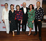 """Lisa O'Hare, Lucy Cohu, Eileen Atkins, Jonathan Pryce, Amanda Drew, James Hillier during the Broadway Opening Night After Party for the MTC  production of  """"The Height Of The Storm"""" at the Copacabana on September 24, 2019 in New York City."""