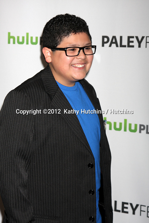"""LOS ANGELES - MAR 14:  Rico Rodriguez arrives at the """"Modern Family"""" PaleyFest Event at the Saban Theater on March 14, 2012 in Los Angeles, CA"""