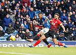 16.03.2019 Rangers v Kilmarnock: Alfredo Morelos scores the equaliser