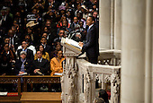 United States President Barack Obama delivers the eulogy during the funeral service for civil rights activist Dorothy Height held at the National Cathedral in Washington, D.C. on Thursday, April 29, 2010. Height passed away on April 20 at the age of 98..Credit: Kristoffer Tripplaar / Pool via CNP