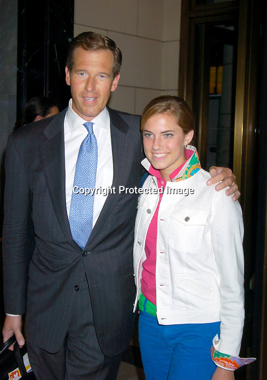 "Brian Williams and daughter Allison..at a special screening of ""Anchorman The Legend of Ron Burgundy on July 7, 2004 at The Musuem of TV and Radio..in New York City. Photo by Robin Platzer, Twin Images"