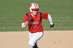 MADISON, WI - APRIL 17: Infielder Theresa Boruta #14 of the Wisconsin Badgers softball team runs the bases against the University of Illinois-Chicago at Goodman Diamond on April 17, 2007 in Madison, Wisconsin. (Photo by David Stluka)