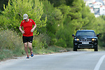 09.08.2014., Hvar - Croatian Prime Minister Zoran Milanovci in the evening run on the roads of the island.<br /> <br /> Foto ©  nph / PIXSELL / Goran Jakus