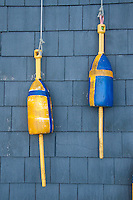 Lobster Buoys, Castine, Maine, US