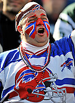 2 November 2008:  Buffalo Bills' fan cheers his team on during a game against the New York Jets at Ralph Wilson Stadium in Orchard Park, NY. The Jets defeated the Bills 26-17 improving their record to 5 and 3 for the season...Mandatory Photo Credit: Ed Wolfstein Photo