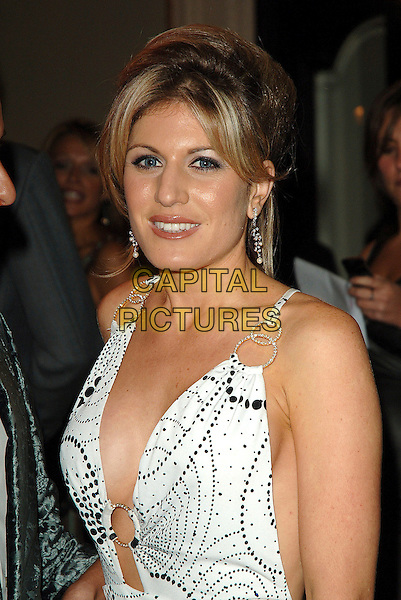 "HOFIT GOLAN.At the World Premiere of ""Dirty Dancing: The Classic Story On Stage"", Aldwych Theatre, London, England,.October 24th 2006..half length low cut plunging neckline white and black print dress silver discs circles.Ref: BEL.www.capitalpictures.com.sales@capitalpictures.com.©Tom Belcher/Capital Pictures."