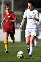 Noemi Cortelli of Roma CF in action during the Women Italy cup round of 8 second leg match between AS Roma and Roma Calcio Femminile at stadio delle tre fontane, Roma, February 20, 2019 <br /> Foto Andrea Staccioli / Insidefoto