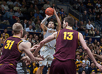 Justin Cobbs of California shoots the ball during the game against Arizona State at Haas Pavilion in Berkeley, California on January 29th, 2014.   Arizona State defeated California, 89-78.